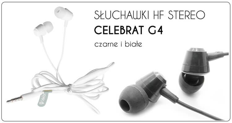 SŁUCHAWKI HF STEREO CELEBRAT G4