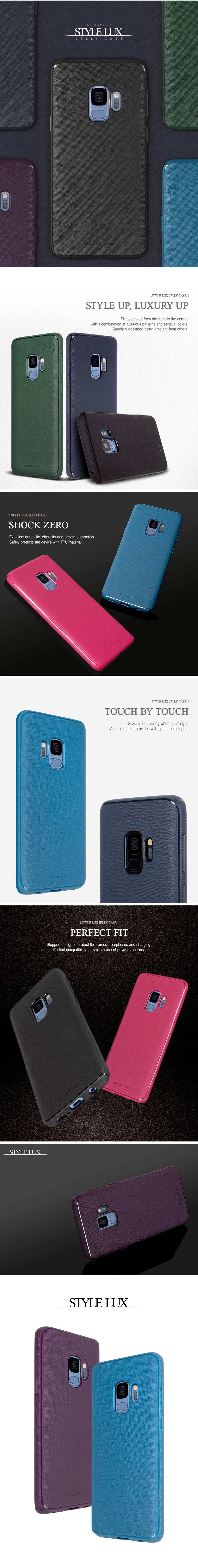 Gsmok Etui Mercury Style Lux Samsung A530 Galaxy A8 2018 Fiolet Goospery Note 9 N960 Pearl Jelly Case Producent