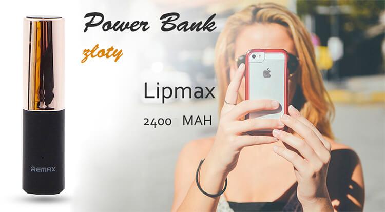 POWER BANK REMAX LIPMAX 2400MAH ZŁOTY
