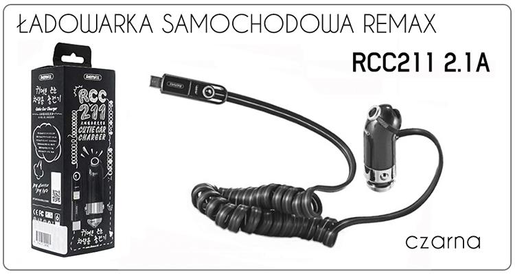 ŁADOWARKA SAMOCHODOWA RCC211 2.1A REMAX
