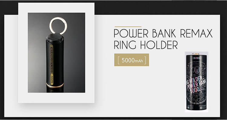 POWER BANK REMAX RING HOLDER 5000MAH