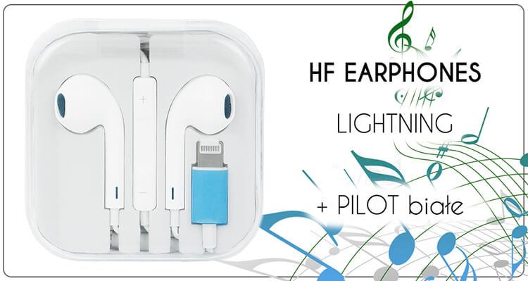 SŁUCHAWKI HF STEREO IPHONE LIGHTNING z pilotem
