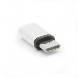 ADAPTER MICRO USB DO TYPE C SREBRNY