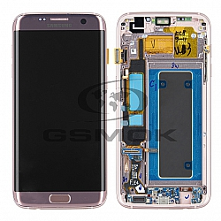 WYŚWIETLACZ LCD + PANEL DOTYKOWY KOMPLET SAMSUNG G935 GALAXY S7 EDGE ROSE GOLD GH97-18533E, GH96-09909A ORYGINAŁ SERVICE PACK